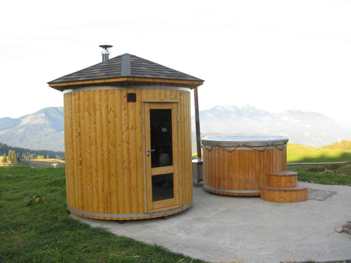 Bagno Esterno In Giardino sauna finlandese e bagno turco da esterno - giardini verdi