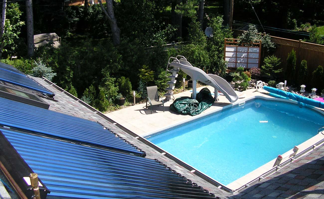 Come riscaldare una piscina interrata giardini verdi - Costo di una piscina interrata ...